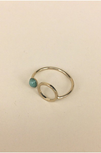 BAGUE ECLIPSE AMAZONITE